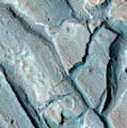 Martian Lake Sediments Art Print