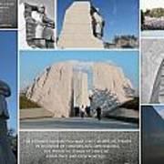 Martin Luther King Jr Memorial Collage 1 Art Print