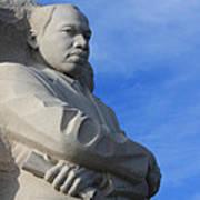 Martin Luther King Jr Monument Detail Art Print