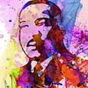 Martin Luther King Jr Watercolor Art Print by Naxart Studio