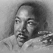 Martin Luther King Jr Art Print