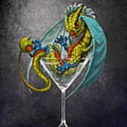 Martini Dragon Art Print