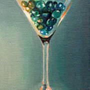 Martini Glass Art Print