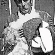Marty Smith As Santa Claus Burger King Tucson Arizona 1982 Art Print