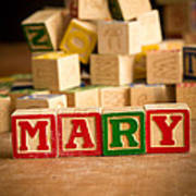 Mary - Alphabet Blocks Art Print