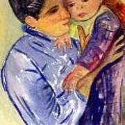 Mary Cassatt Helene De Septeuil In Watercolor Art Print