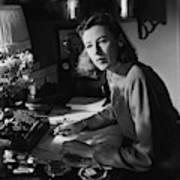 Mary Cushing At A Desk Art Print