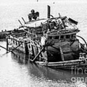 Mary D Hume Shipwreck - Rogue River Oregon Art Print