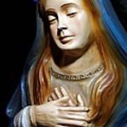 Mary In Manger Art Print