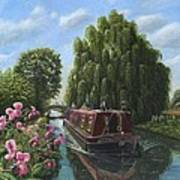 Mary Jane Chesterfield Canal Nottinghamshire Art Print