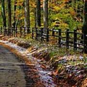 Maryland Country Roads - An Early Kiss Of Winter Art Print