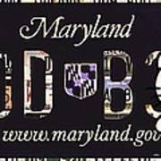 Maryland License Plate Art Print