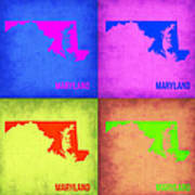 Maryland Pop Art Map 1 Art Print