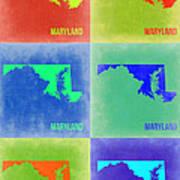 Maryland Pop Art Map 2 Art Print