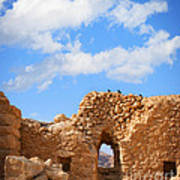Masada Fortress Art Print