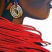 Masai Bride - Original Artwork Art Print