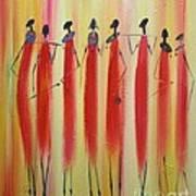 Masai Warriors Art Print
