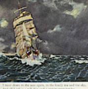 Masefield Sea Fever, 1902 Art Print