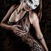 Mask And Lace Art Print