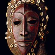 Mask From Ivory Coast Art Print