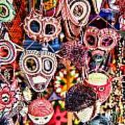Mask Me In El Casco By Diana Sainz Art Print