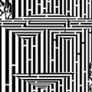 Mask Of The Maze  Art Print