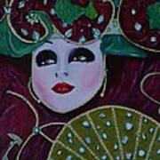 Mask Parade Art Print by David Hawkes