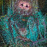 Lady Behind The Mask Art Print