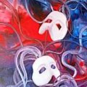 Masks 3 Art Print