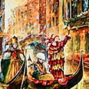 Masks Of Venice Art Print