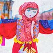 Maslenitsa Dolls 4. Russia Art Print