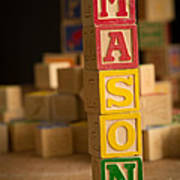 Mason - Alphabet Blocks Art Print