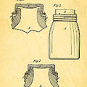 Mason Fruit Jar Patent Art 1870 Art Print