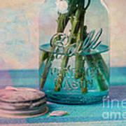 Mason Jar Vase Art Print