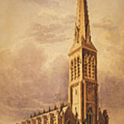 Masonry Church Circa 1850 Art Print by Aged Pixel