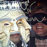Masquerade Masked Frivolity Art Print