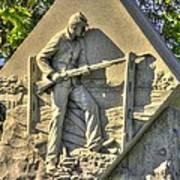 Massachusetts At Gettysburg 1st Mass. Volunteer Infantry Skirmishers Close 1 Steinwehr Ave Autumn Art Print
