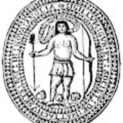 Massachusetts Bay Colonyseal, 1628 Art Print