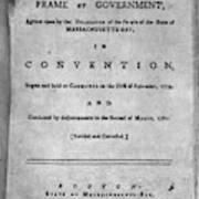 Massachusetts Constitution Art Print