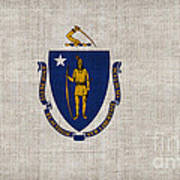 Massachusetts State Flag Art Print by Pixel Chimp