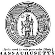 Massachusetts State Seal Art Print