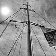 Mast Of Yacht Art Print