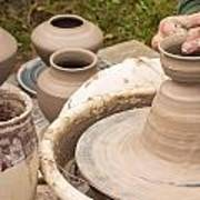 Master Potter Shaping Clay Print by Dancasan Photography