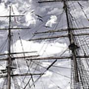 Masts Of Sailing Ships Art Print