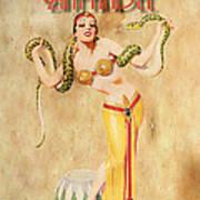 Mata Hari Vintage Wine Ad Art Print