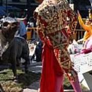 Matador Confronts Bull Art Print