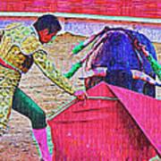 Matador Leading Bull Art Print