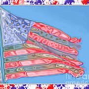 Matalic Flag Art Print