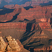 Mather Point At Sunrise On The Grand Canyon Art Print