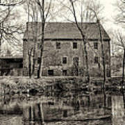 Mather's Grist Mill Art Print